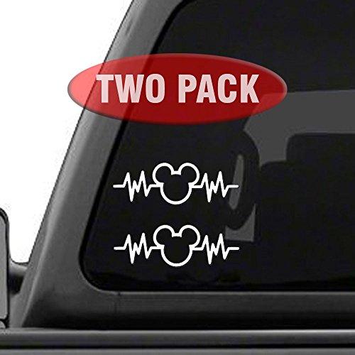 Mickey Mouse Heartbeat 2PK - 6 Car Truck Vinyl Decal Art Wall Sticker Disney Fun Adorable Cute Life