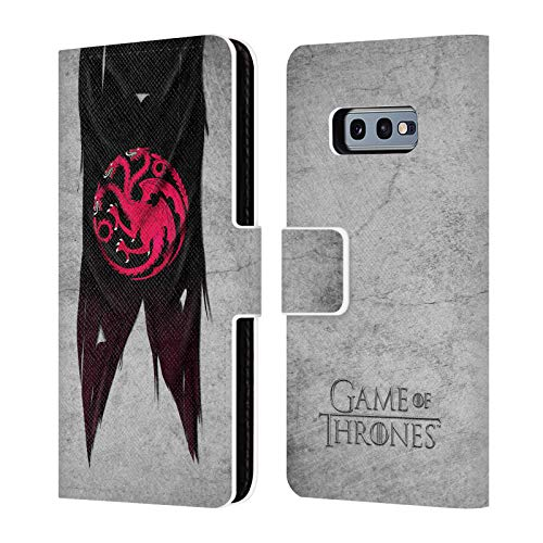 Head Case Designs Officially Licensed by HBO Game of Thrones Targaryen Sigil Flags Leather Book Wallet Case Cover Compatible with Samsung Galaxy S10e