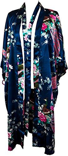 CCcollections Bademantel Robe Wäsche -Nachtabnutzung Kleidbrautjunfer Junggesellinnenabschied (Navy blau (Navy Blue))