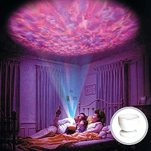 Preisvergleich Produktbild Colorfulworld® LED Mood Light Music ocean-wave Projektorlampe Aurora Romantische Deckenleuchte Nacht Projektor Licht 7 Farben Farbwechsel