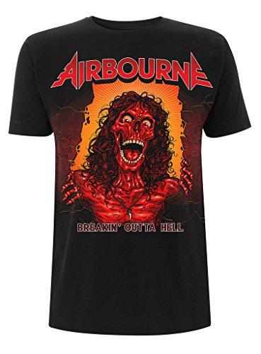 Airbourne Breakin' Outta Hell Rock Heavy Metal offiziell Männer T-Shirt Herren (Medium)