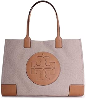 Tory Burch Women's Ella Canvas Tote Top-Handle Bag