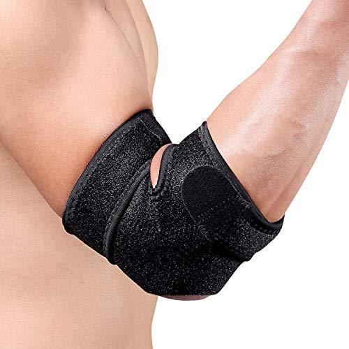 Anpole Ellenbogenbandage Tennisarm,Ellbogen Bandage Fitness atmungsaktive Ellenbogenstütze mit Klettverschluss,Golferarm, Handball,für Sehnenscheidenschmerzen Damen und Herren