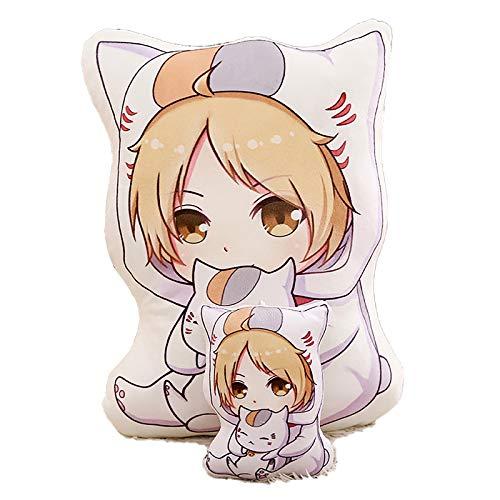 Almohadas de felpa de anime, lindo, libro de amigos de Natsume, almohada de peluche suave, almohada de juguete, colgante de llavero para mochila, bolso