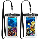 (2 Pack) JOTO Universal Waterproof Pouch Cellphone Case up to 7.0', Full Transparent Underwater Dry Bag for iPhone 12 11...