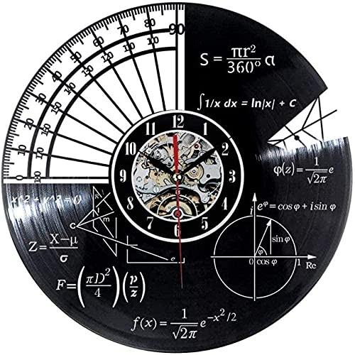 mbbvv Orologio da Parete Orologio da Parete in Vinile equazioni e Simboli matematici Lavagna Matematica Freak Record Vinile Aula Decorazione Aula