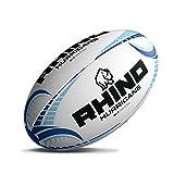Rhino Hurricane Rugby Union Ballon d'entraînement Blanc/Bleu, Blanc, 4