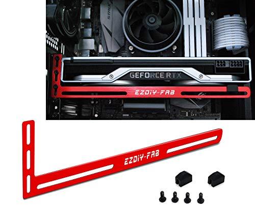 EZDIY-FAB Grafikkartenhalterung Unterstützung. EIN Grafikkartenhalter, GPU VGA-Klammer, für Benutzerdefinierte Desktop PC Gaming. EIN GPU Standgehäuse mod- 3mm Aluminium Rot