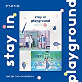 JYP Stray Kids - 2nd PHOTOBOOK Stay in Playground DVD+Pre-Order Benefit+On Pack Poster+Extra Photocards Set