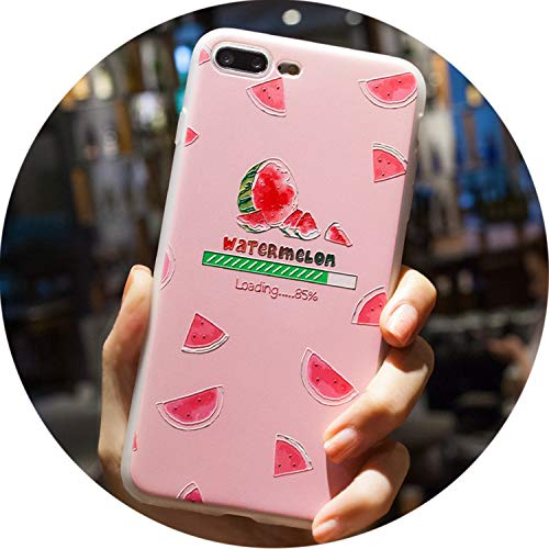 Phone Case for Case for iPhone SE 5 5S 6 6s 7 8 Plus X Phone Cases for iPhone 6 7 8 Case Silicone TPU Soft Back Cover,24,for iPhone 8 Plus