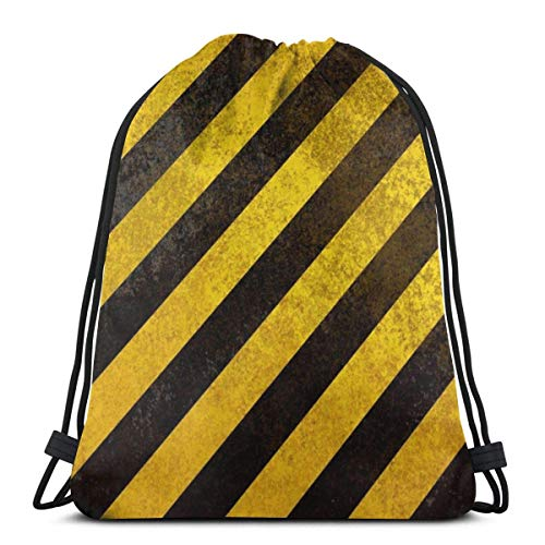 LREFON Gimnasio Bolsas con cordón Mochila Amarillo Negro Cinta Mochila Bolsa para almacenamiento de viaje Organizador de zapatos Baloncesto Compras Niños