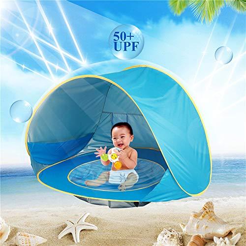 Tipi tent voor kinderen Children's Tent Oceaan Openlucht Zonnebrandcrème Zwembad Strand Kasteel Speelhuisje Speelgoed Huis Fee Prinseskasteel Play Tent Gebruik binnen en buiten (Color : Blue)
