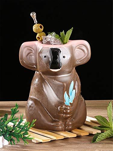 Estantería de vino Barra de herramientas de la taza de 750 ml Oso de koala Hawaii Tiki de café Cóctel Copa Cerveza Bebidas vino tazas De las Islas de Pascua de cerámica Tazas de Tiki