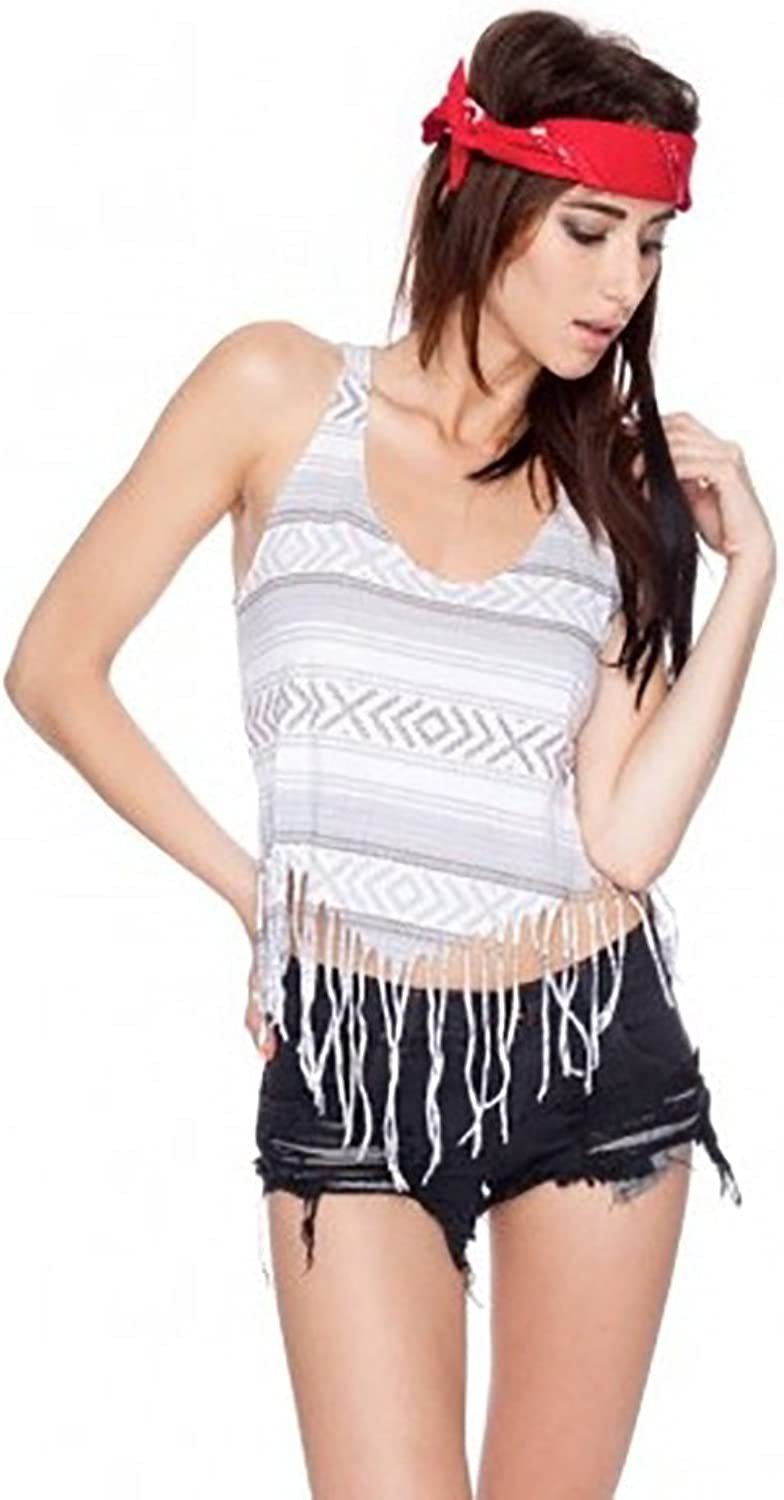 Chaser Women's Trompe Poncho Muscle Fringe Tee