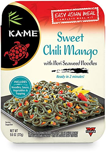 KA-ME Easy Asian Complete Meal Kit with Nori Seaweed Noodles, 9.6 oz. Meals, Sweet Chili Mango, 6-Pack (470563)