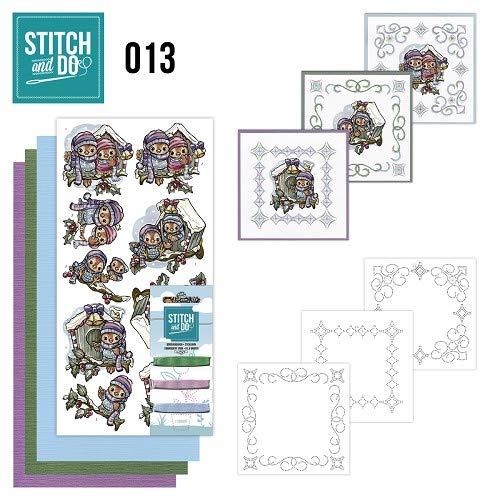 Stitch en Do 13 - Vogelhuisjes 3 Pack
