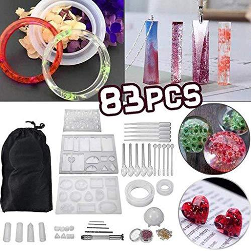 iSuperb 5Pcs Silicone Round Ball Resin Mold Set Casting Molud Tools DIY Jewelry Craft,Resin Epoxy,Handmade Crystal Pendant Resin ball