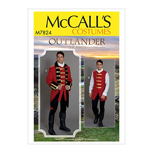 McCall's Patterns MCC 7824 M7824 MQQ Herrenkostüm von Outlander: The Series, Größe 46-48-50-52