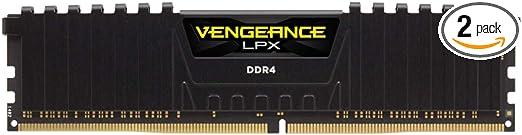 Corsair Vengeance LPX 16GB (2 X 8GB) DDR4 3200 (PC4-25600) C16 1.35V Desktop Memory - Black