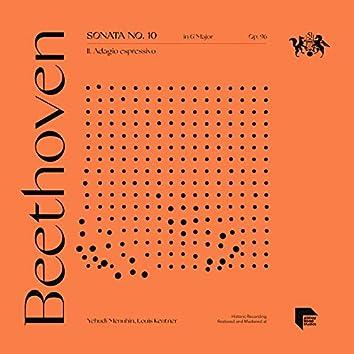 Beethoven: Sonata No. 10 in G Major, Op. 96: II. Adagio espressivo