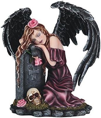 "Major-Q G8091977 8"" Dark Angel on Tomb Statue Figurine Home Decor Sculptures Polyresin"