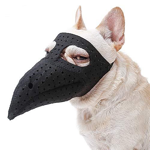 N / A Halloween perro bozal negro fieltro gato fiesta Cosplay disfraz (S, bozo)