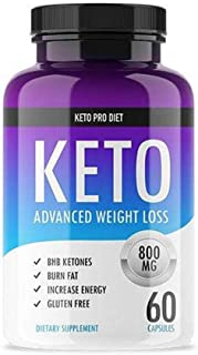 Keto Pro Diet - Advanced Keto Weight Loss Supplement - Ketogenic Fat Burner - Supports Healthy Weight Loss - Burn Fat Inst...