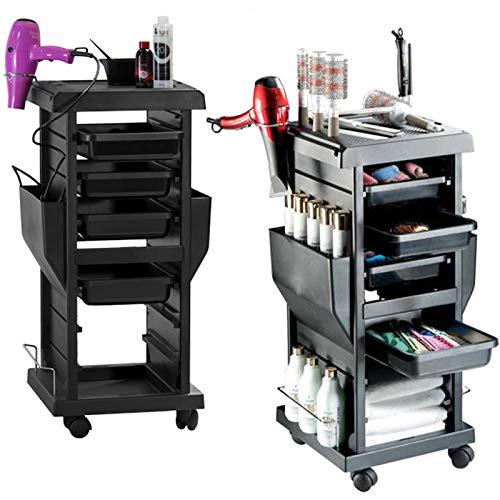 Salón De Peluquería Barbero Cabello Belleza Carro Carrito cajones para Colorear - 4