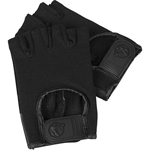 GORILLA SPORTS® Fitness-Handschuhe Leder mit Klettverschluss – 2er-Set in Schwarz S