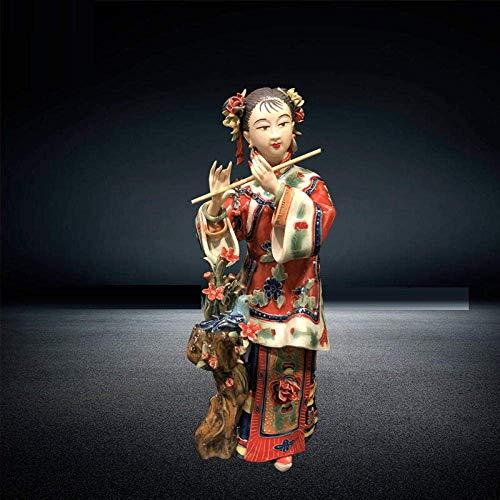 THj Esculturas de Estilo Chino Antiguo Hermosas Mujeres ángeles Figuras de Porcelana Arte clásico Pintado Estatua Femenina cerámica decoración del hogar