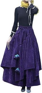 BININBOX Falda de Mujer Falda Plisada Falda de algodón Fino Falda para Primavera y otoño