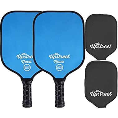 Upstreet USAPA Approved Pickleball Paddle Set - Polymer Honeycomb Composite Core - Paddles Include Racket Cover