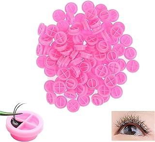 ELECDON Lashes Fan Glue Cups, Grafting Eyelash Glue Delay Cup, Eyelash Extensions Glue Holder And Eyelash Beauty Tool Acce...