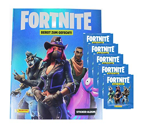 Fortnite Sticker - Serie 1 (2019) - 1 Album + 5 Booster (25 Sammel Sticker)