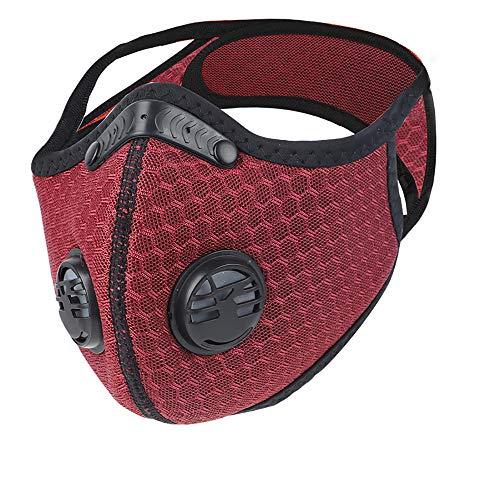 Máscara deportiva a prueba de polvo: máscara antipolución de carbón activado con filtro extra Juego de sábanas y válvulas de algodón ‖Ejercicio ‖ Correr ‖Motorcycle ‖ Ciclismo ‖ Máscara