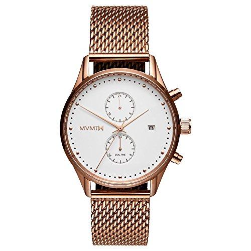 MVMT Herren Multi Zifferblatt Quarz Uhr mit Edelstahl Armband D-MV01-RGM