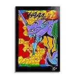 Neon Genesis Evangelion EVA 01 - Pintura Enmarcado Original, Imagen Pop-Art, Impresión Póster, Impresion en Lienzo, Cuadro, Cómics, Cartel de la Película, Anime, Manga