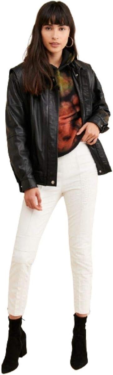 Free People Kaelin Moto Skinny Jeans - White Size 4