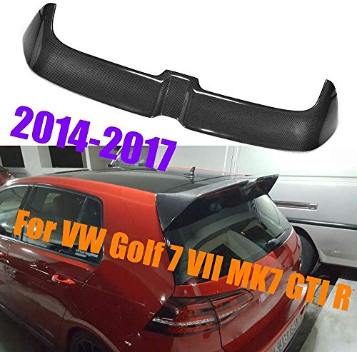 HYNB Echte Carbon Kofferbak Spoiler Voor Volkswagen VW Golf VII MK7 MK7.5 GTI R32 2014 2015 2016 2017, Dak kofferdeksel Vleugel Lip, (niet voor Golf 7 Gewone model), E #, A #