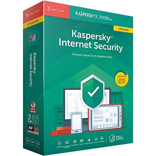 Kaspersky Internet Security 3 Geräte Upgrade (Code in a Box). Für Windows 7/8/10/MAC/Android
