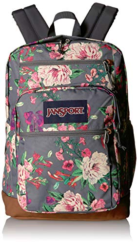 JanSport Cool Student 15-inch Laptop Backpack - School Bag, Grey Bouquet