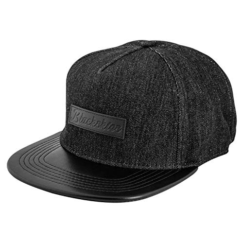 Blackskies Denim Beast Snapback Cap | Herren Damen Schirm Premium Baseball Mütze Kappe Jeans Kappe - Schwarz