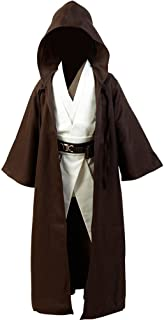 Kids Tunic Hooded Robe Outfit for Jedi Costume Brown Version