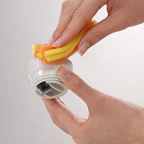 アズマコップ洗い水筒・ボトル用スポンジ幅4cm全長40cmオレンジ細いそそぎ口洗いもOKスペア交換可能AZ699O