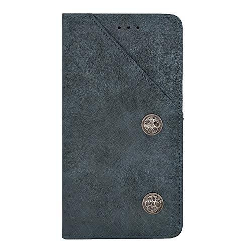 ZYQ Blau Retro Flip Echt Leder Tasche TPU Silikon Gel Schutz Hülle Für Oukitel U7 Max Brieftasche Hülle Cover Etui Klapphülle Handytasche