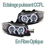 europetuning - 00754 - PHARES FEUX NOIRS ANGEL EYES ANNEAUX LED CCFL SERIE 3 E90 & E91 PHASES 1 05-08