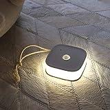 Luz nocturna LED, luces nocturnas recargables con sensor de movimiento, lámpara nocturna LED con juego de ganchos y imanes integrados, luz nocturna LED para niños, pasillo, cocina, escaleras, salón