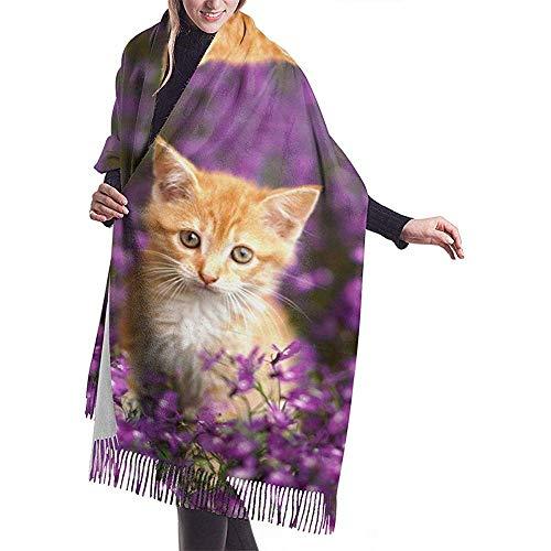 Regan Nehemiah leuke katjes druk kasjmier sjaal vrouwen casual warme sjaal verpakking sjaal groot