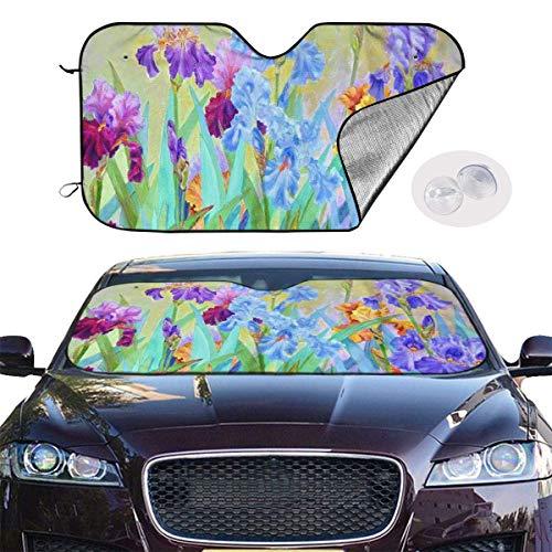hengshiqi Windshield Sun Shade Marilyn Monroe Front Car Shield Window Shade UV Ray Reflector Auto Visor Cover Protector Fold-Up Truck Sun Glare