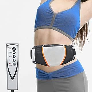 zinnor Electric Exercise Heat Loss Weight Vibrating Shape Slimming Massage Belt Fitness (Black)